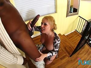 Sunny Day interracial horny MILF MOM