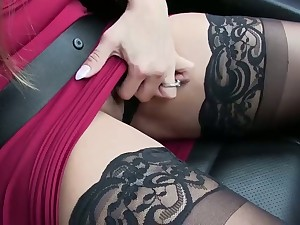 Fabulous super curvy MILFie sexpot gives more remote rimjob and blowjob