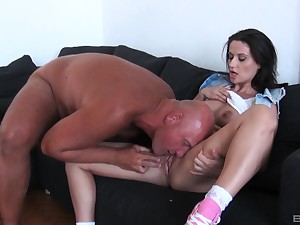 Hardcore ass fuck and a mouth full of warm cum be required of brunette Madlin
