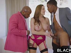 BLACKED Most assuredly Hot Bestowal Spliced Fucks BIG BLACK Locate In Husband S Bed - ANALDIN