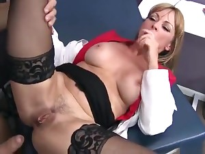 Unbelievable breasty dam Shayla LeVeaux performing in real medicinal XXX video