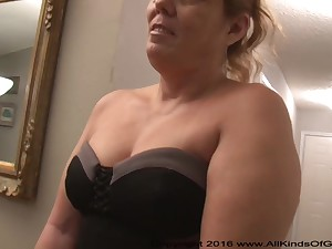 Mexican grandmother gilf with large ass attempts out for assfuck humble pornography
