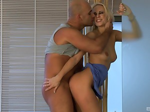 Irresistible Carla Cox gets pounded in the shit by her lover
