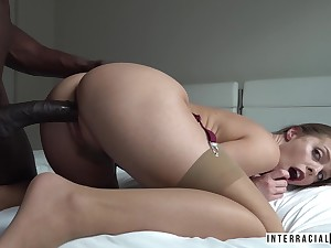 Juicy BBC slut Britney Amber has got huge tits and she loves will not hear of some big cock