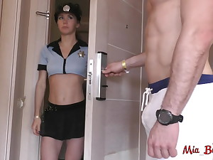 Part 2. Police investigation. Pest to throat with anal creampie
