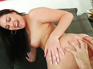 Dark-haired darling Brittany Shae gets it on encircling signature style