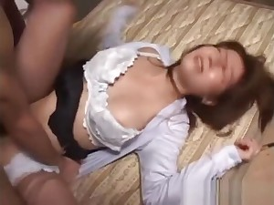 Oriental issue piece of baggage gets her pussy pounded deep on the floor