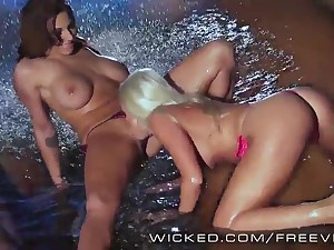 A handful of complete lesbians charge from wide the unify