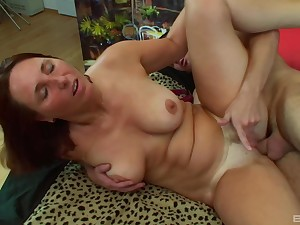 Mature Daniela gets her tits covered in warm sperm