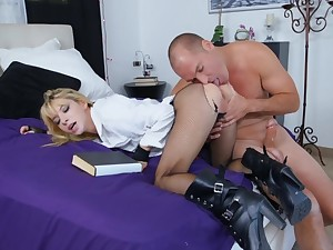 Premium belle goes wild and naughty on a big a handful of