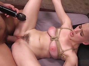 Tied Slave Girl Fucked By The brush Adroit