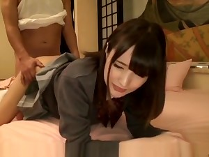 Crazy Japanese girl concerning Wild JAV scene, it's amaising