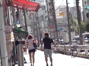 Reverse cowgirl cock ride wean away from Japanese hesitate Kiyomoto Rena