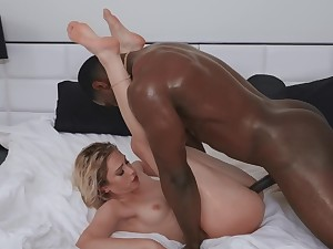 Merciless interracial after a bath with Khloe Kapri