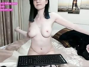 russian cam-slut perfect natural tits