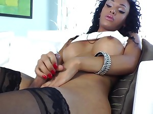 Spectacular alone menacing tranny with respect to pierced dick