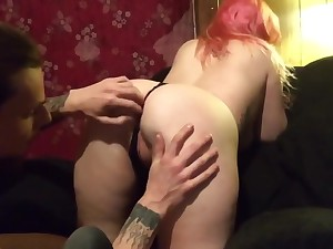 Wife sucks husband after a long time carrying-on be transferred to game gets fucked in living room chair