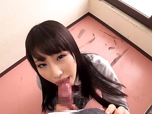 Cute Japanese chick Ayami Shunka adjacent to miniskirt gets fucked good