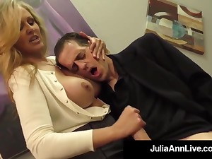 Julia Ann is a screwing blondie female, who loves to touch boners and vindicate them pus
