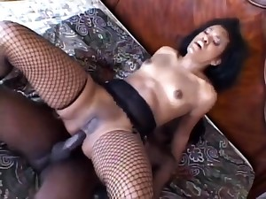 Sex with the addition of anal sex in black stockings with the addition of heels