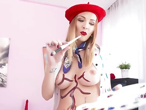 Belle Clair is getting her pussy and arse primed with dicks, at the same time