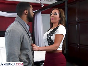 Shove around sexy realtor with mammoth Bristols Richelle Ryan bangs young swart guy